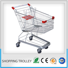 shopping carts with selectable color/supermarket trolley metal
