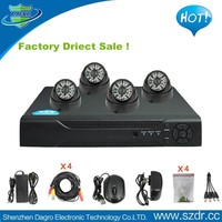 Hot New Products for 2015 4CH Full D1 DVR H264 4 PCs Dome Style 700TVL DVR Camera Security Camera System