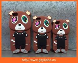 3D Cartoon bear boy silicone cover case for iphone 5 6 6plus silicon case