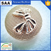 fancy design gold color metal sewing button sewing button with loop