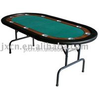 """48"""" outdoor folding camping poker table with cup holder and foldable metal legs"""