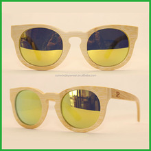 Import order with custom logo yellow revo uv400 ce polarized lens retro bamboo sunglasses fda