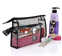 Eco -friendly no breaking waterproof clear travel wash bag\gusset bag\cosmetic bag for families