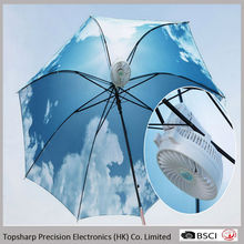 China Suppliers handheld portable mini rechargeable cilp electric fan in umbrella