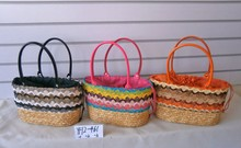 wholesale fashional lace and wheat straw ladies bags women fashion bag