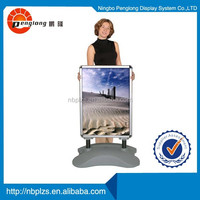 water or sand fiiled PE Plastic base Outdoor wind resistant water based stand for poster display