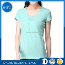 factory price plain color 100% cotton t shirts for women