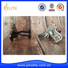 gun shaped cuff links, cufflink blanks ,stainless steel cufflink blanks
