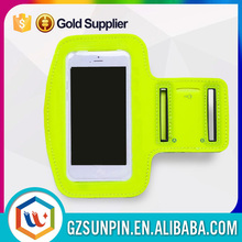 Custom gym sports armband for iphone 6 with key and earphone pocket