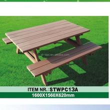 Eco wood plastic composite waterproof outdoor furniture