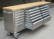 """96"""" Wide Stainless Steel Surface Rolling Toolbox Tools & Home Improvement"""