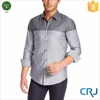 Men's long sleeves two-tone shirts manufacturer