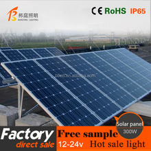 Monocrystalline Solar cell panel 300w 36v solar cell module with CE RoHS certified mono solar panel