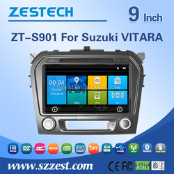 CE/FCC/RoHS certification 2 din 9 inch car entertainment navigation system for Suzuki Grand Vitara car monitor with GPS 3G Wifi