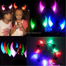 50pcs/lot LED horn hair pins for christmas,Christmas hair accessories