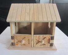 FSC new unfinished wooden bird house wooden decorative bird house wholesale