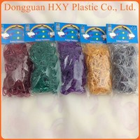 HXY non toxic custom DIY Silver loom bands crazy unique rubber band bracelet with Wholesale rainbow Color loom Bands