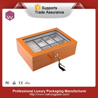 Fashionable designer wooden watch/jewelry box with clear window (WH-S-025-JP)