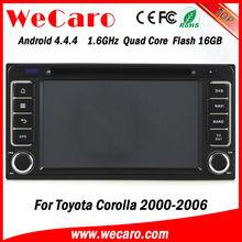 Newest Version 1.6GHZ car dvd player gps for toyota corolla 2005 GPS navigator TV Radio tuner CD Player