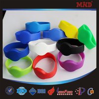 MDW410 74mm diameter rfid silicone electronic identification wristband /bracelet