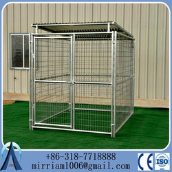 Portability and Folds big steel dog cage, dog kennel cage
