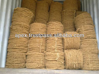 Curled rope for pillow making