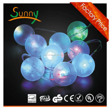 220V hot new christmas LED motif string light in tree, LED cotton ball string light