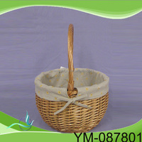 low price high quality Round Empty Wicker Picnic Basket