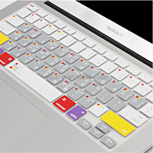 Silkscreen Printing Letters Silicon Rubber Keyboard Cover for Apple Mac Pro 15''