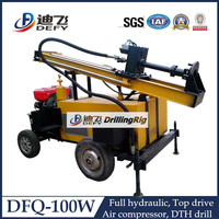 full hydraulic pneumatic type portable used shallow water well drilling equipment