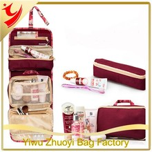 Foldable Camouflage Travel Toiletry Bags for Carrying Many Things with Metal Hook