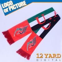 2015 Wholesale UAE National Day tribal print scarf men long neck shawl tercel badge satin scarf