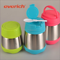 350ml 500ml wholesale vacuum insulated stainless steel hot lunch box with handle