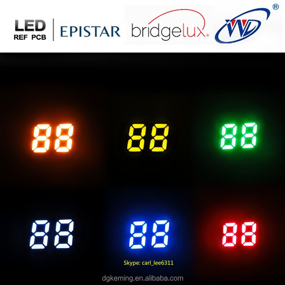 made of Epistar chip 0.25 inch ultra orange 2 digits led numeric display
