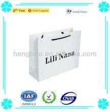 Bolsa de papel reciclado& personalizada nuevo estilo bolsa de papel& de impresión bolsa de papel