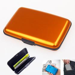 Waterproof Business ID Credit Card Wallet Holder Aluminum Metal Case Box