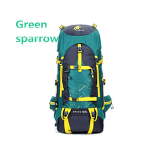 green trekking backpack bag for hiking&camping
