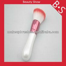 Red hair flat makeup japan custom cosmetic brushes ,beauty powder makeup brush ,with wood handle