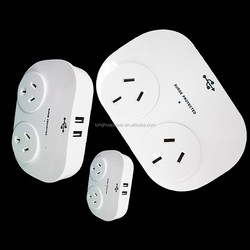 Surge Protection Double Socket adapters & chargers, wall socket with 2 Socket Dual USB 2.4A power Adaptor / surge adaptor