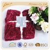 100% polyester china faux fur blanket with brushed and shear