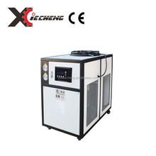 Factory cooled water chiller with spiral condensers