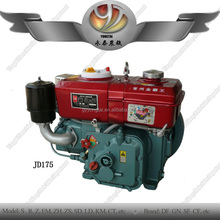 Authorized by ISO9001 single cylinder JD175 diesel engine, water cooling JD175 tractor