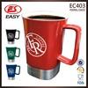 Wholesale promotion 450ml custom coffee mug china white with handle & cover