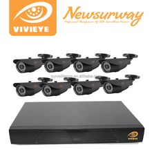 Alta definición 720 P 8CH AHD DVR kits, cctv kit de la cámara con ir exterior cámaras