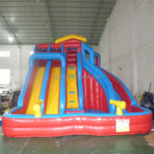 slip water slides , LZ-B3415 backyard inflatable water slides