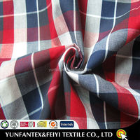2015 latest design fashion soft Egyptian Cotton yarn dyed poplin cotton stock check fabrics