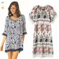 2015 summer vintage patterns women lace dress lady fashion lace dress