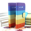Book Style Leather Flip Case for Huawei Ascend Y300,Ascend Y300 flip leather case cover