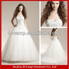 WD-2037 Stunning crystal beaded corset top full tulle ball gown skirt china custom made wedding dress london