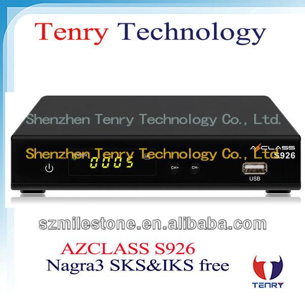 Azclass S926 Nagra3 decodificador con SKS IKS envío para américa del sur